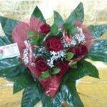 זר ורדים בצורת לב 119 שקל