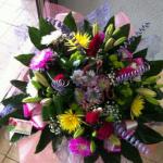 זר פרחים צבעוני ענק 299  שקל